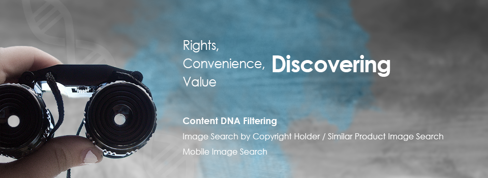 Content DNA Filtering : Image Search by copyright holder, similar product image search, mobile image search